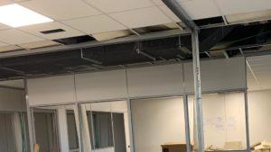 controsoffitti, pareti in cartongesso, arredo ufficio, ristrutturazione ufficio, realizzazione ufficio